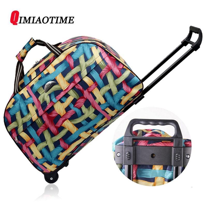 QIMIAOTIME2018 New Oxford Cloth Portable Travel Bag Waterproof Portable Large Capacity Fashion Trolley Bag Travel Bag Duffel Bag