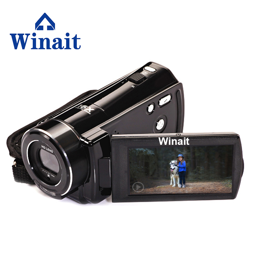 Winait Mini HDV-V7 Professional 3.0 inch Rotation Touch Screen 1080P Full HD Flash Digital Video Camera with Remote Control free shipping winait full hd 1080p mini new arrival 18mp cameras digital 2 4ltps camcorder winait dv dc v700
