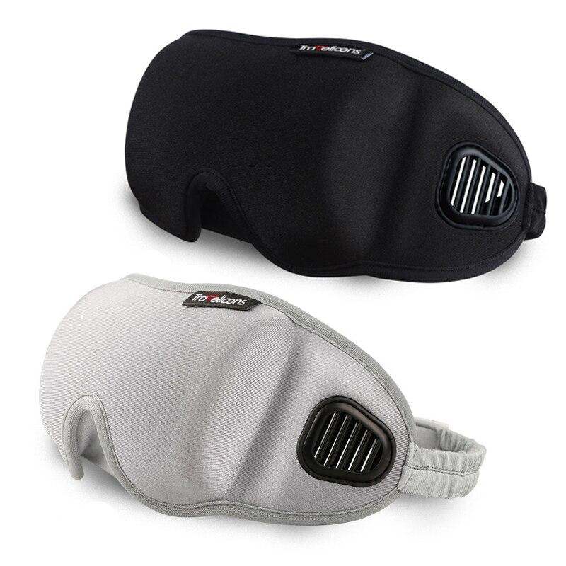 3D cubierta del ojo máscara para dormir Eyeshade viajes Oficina dormir mujeres hombres gafas suave transpirable ajustable parche negro Blindfold