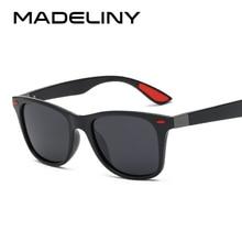 4ced79b09b98 MADELINY Classics Brand Designer Polarized Sunglasses Men Women Retro Rivet  Driving Square Sun Glasses Polarized Glasses