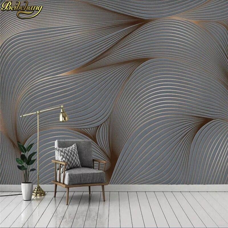 Beibehang personalizado papel de parede 3d moderno e minimalista nordic abstrato aquarela pintados à mão pena tv mural papel de parede de fundo