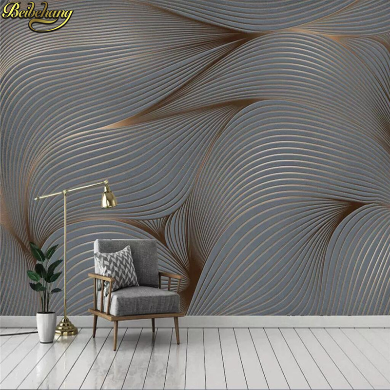 beibehang Custom wallpaper 3D modern minimalist Nordic abstract watercolor hand-painted feather TV mural background wall paper