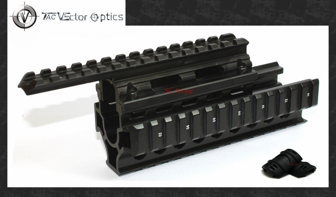 Vecteur optique tactique AK 47/74 RIS Handguard Quad Rail système de montage gratuit Rail couverture gardes accessoires de pistolet