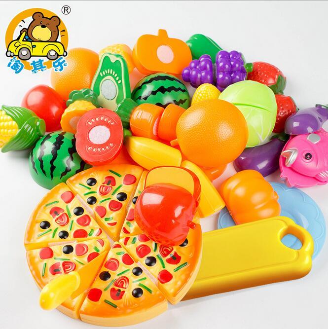 unidsset juego de imaginacin cocina clsica juguetes qiele cortar salud interactiva juguete diy nios nios chica favorita