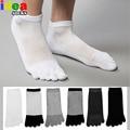 Verano Soild de punta fina hombres pura calcetines coolmax para hombre corto de cinco dedos de malla calcetines escotados tobillo no show calcetines barco mujeres
