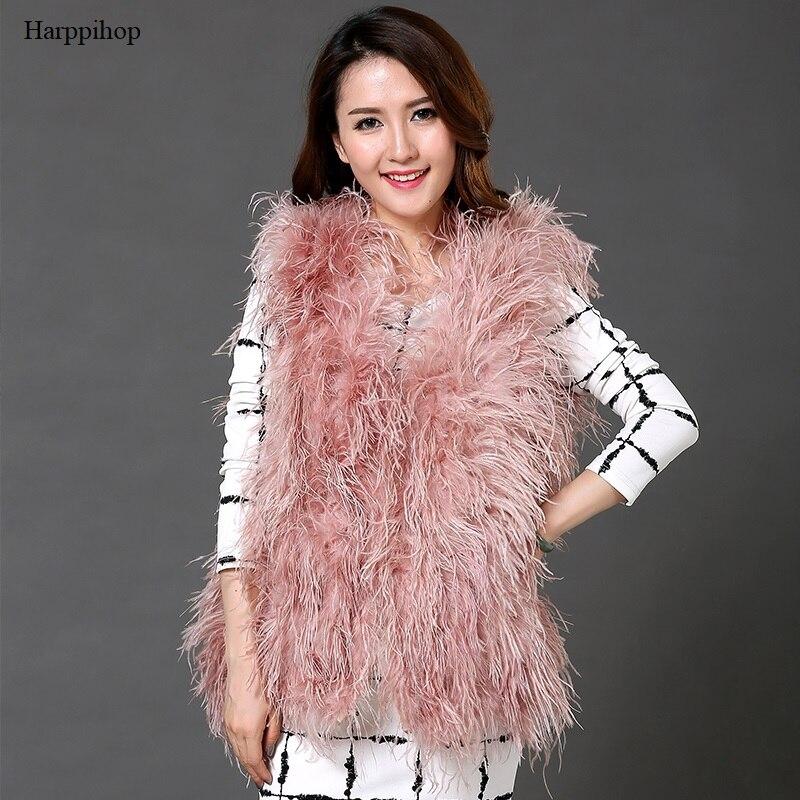 2018 nouvelle australie top qualité vraie autruche laine dinde plume manteau shearling femmes vestes élégant mode spécial manteau