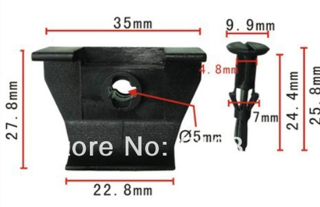 O envio gratuito de 100 pcs clips carro de plástico push-tipo retentor fateners