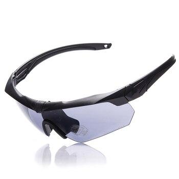 02b96b6045 TR90 gafas militares 3 lentes polarizadas balística militar deporte hombres  gafas de sol ejército a prueba de balas gafas de tiro