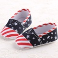 US Flag First Walkers Cotton Cloth Baby Girl Shoes Mixed Colors Toddler Baby Moccasins Stripe Baby Shoes