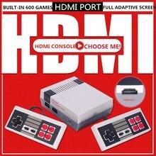 4 hdmi出力8Bitレトロクラシックハンドヘルドゲームプレーヤーtvビデオゲームコンソール幼児内蔵600ゲームミニコンソールpal & ntsc