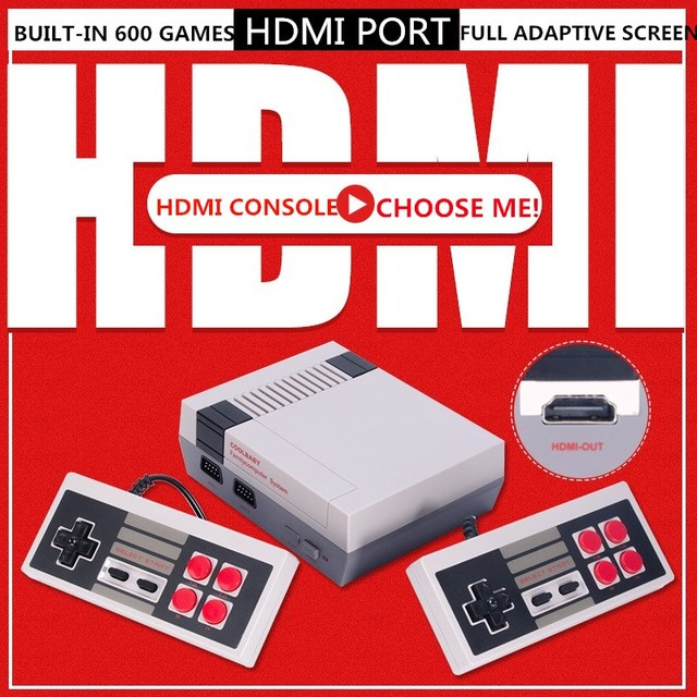 4K HDMI Output 8Bit Retro Classic Handheld Game Player TV Video Game Console Childhood Built in 600 Games Mini Console PAL&NTSC