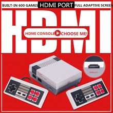 4k saída hdmi 8bit retro clássico handheld game player tv vídeo game console infância embutido 600 jogos mini console pal & ntsc