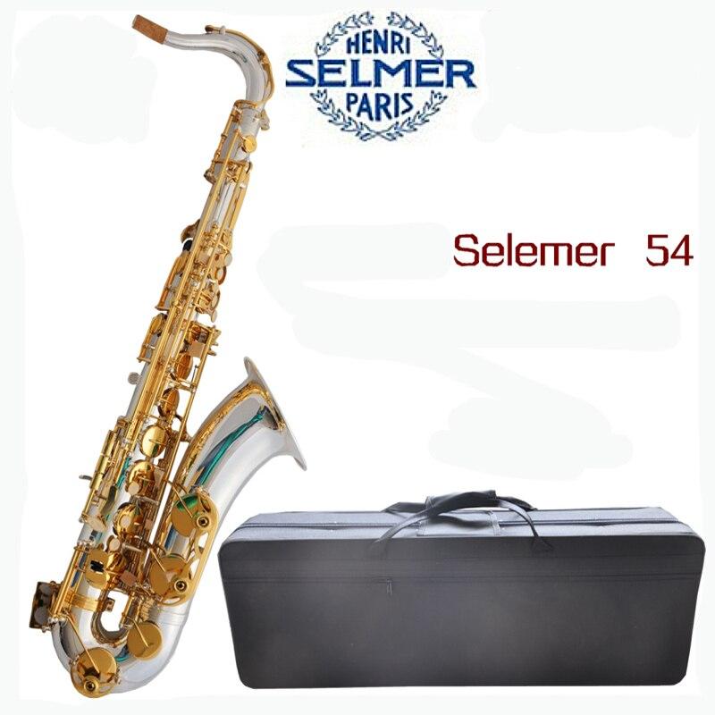Silver Surface and Gold Key Selmer 54 Saxophone Tenor Eb Sax with Nylon Case ботильоны gold key gold key go020awmbq30