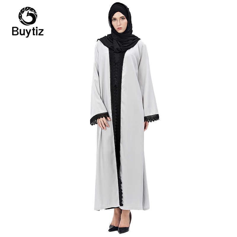 Buytiz верхняя одежда ОАЭ Повседневная серая льняная сетка Исламская одежда длинный халат в стиле бохо арабское вечернее платье женское мусульманское abaya Макси платье кардиганы