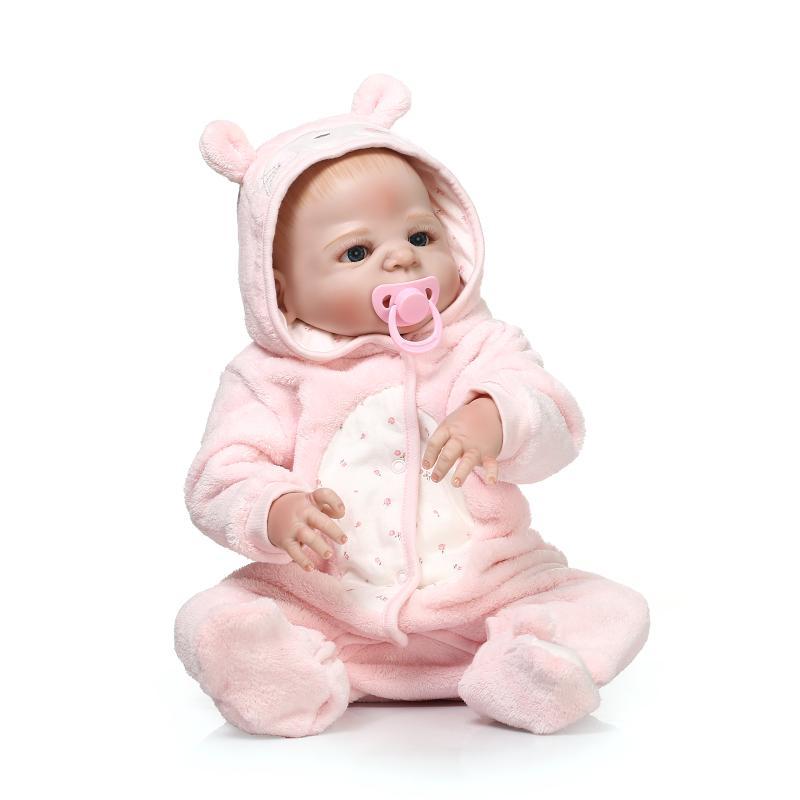 22 Polegada NPK bebe Renascer Baby Dolls 56 cm Vivo Menina Menino Sem Cabelo Realista Cheio de Silicone Boneca Bebês bathable brinquedos Para As Crianças Presentes