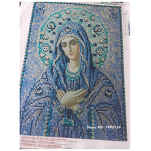 RUBOS Icon Theotokos Vladinirskaya DIY 5D diamond embroidery Religion diamond mosaic painting pattern crystal glass home decor