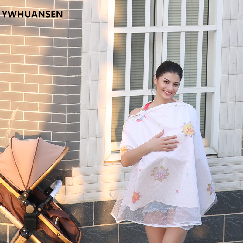 YWHUANSEN70*110cm Fashion Breastfeeding Cover Cotton Privacy Nursing Cover Baby Scarf Infant Newborn Clothes For Women Lactation