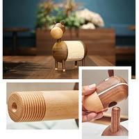 Little Donkey Crafts Paper Towel Holder Wooden Kitchen Ornaments Bathroom Cartoon Rack Living Room Roll Holder Home Organizer