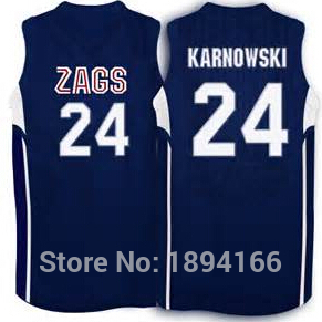 43 Drew Barham 24 Przemek Karnowski Gonzaga Bulldogs Basketball
