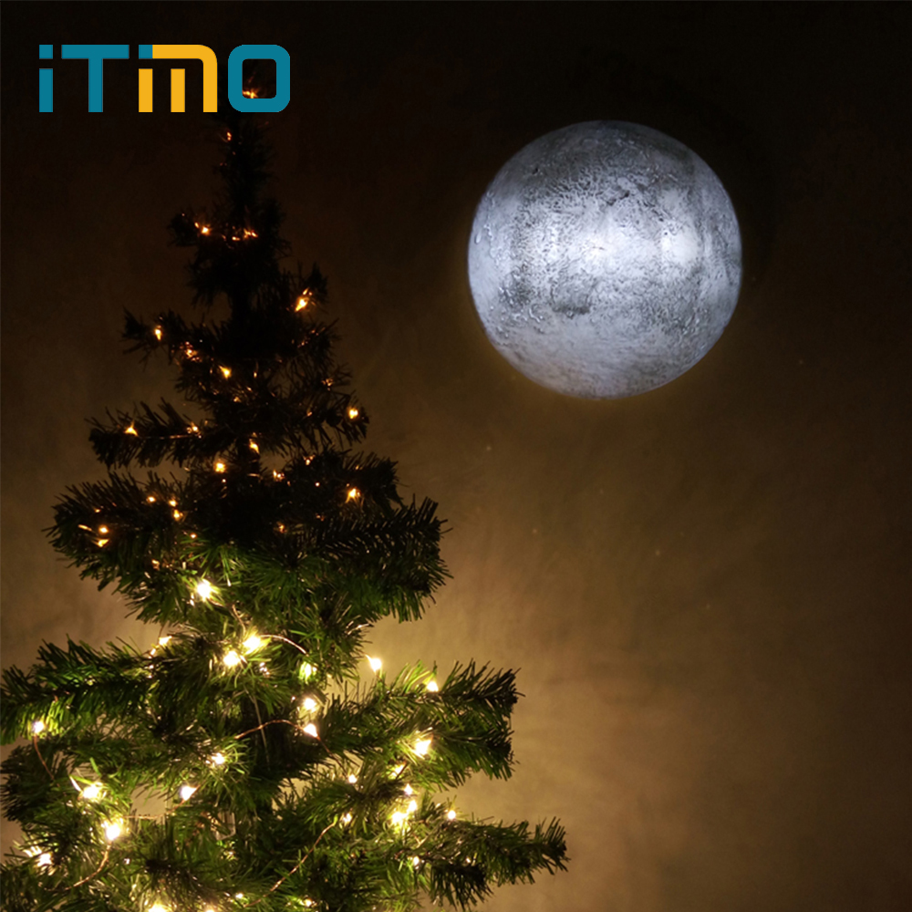iTimo LED Night Light Healing Moon Lamp with Remote Control Gift For Kids Indoor Lighting Home Wall Decoration Lamp free shipping remote control colorful modern minimalist led pyramid light of decoration led night lamp for christmas gifts
