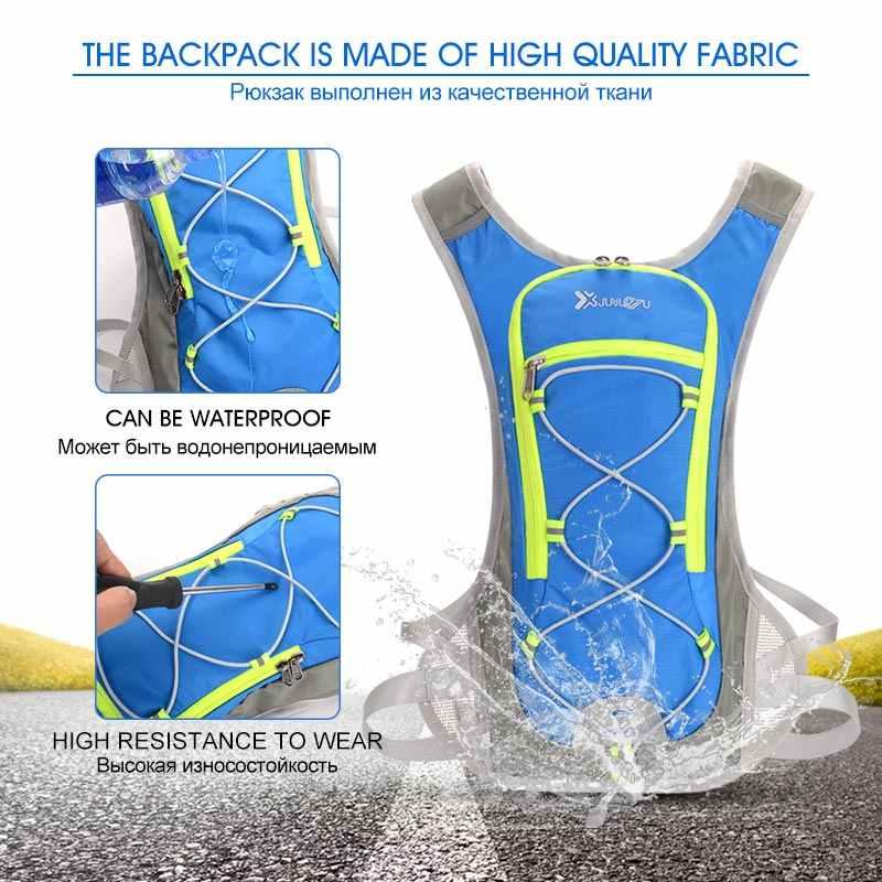 Trail Running Велоспорт 8L жилет рюкзак Для мужчин Для женщин флуоресцентный зелёный край Фитнес аксессуары качество спортивные Пеший Туризм марафон мешок
