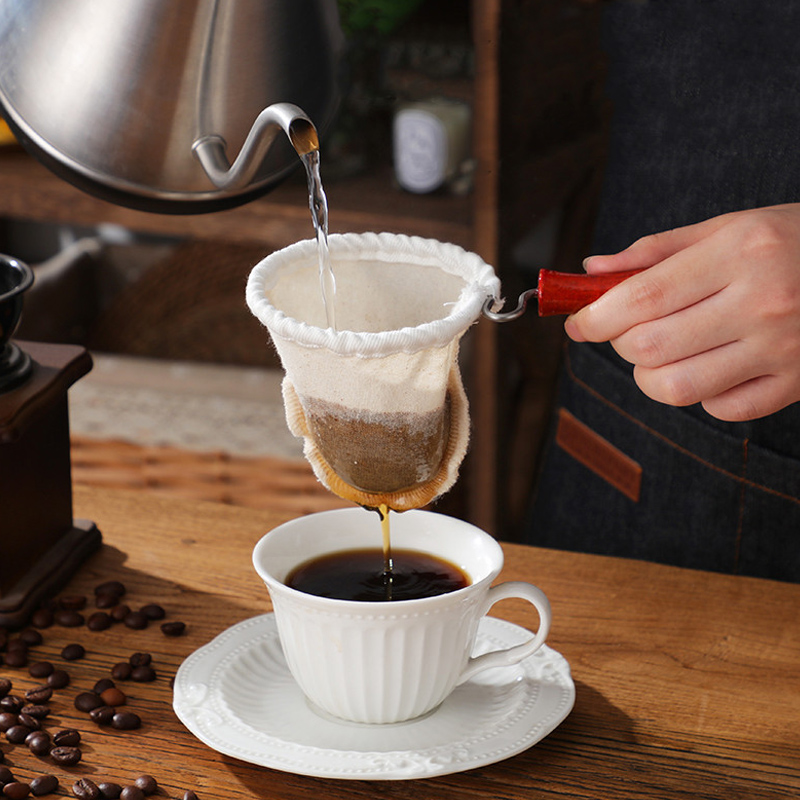 Coffee Filter Silk Stockings Milk  Tea Coffee Filter Bag Tool For A Milk Tea Shop Family Kitchen Tools C1112 B