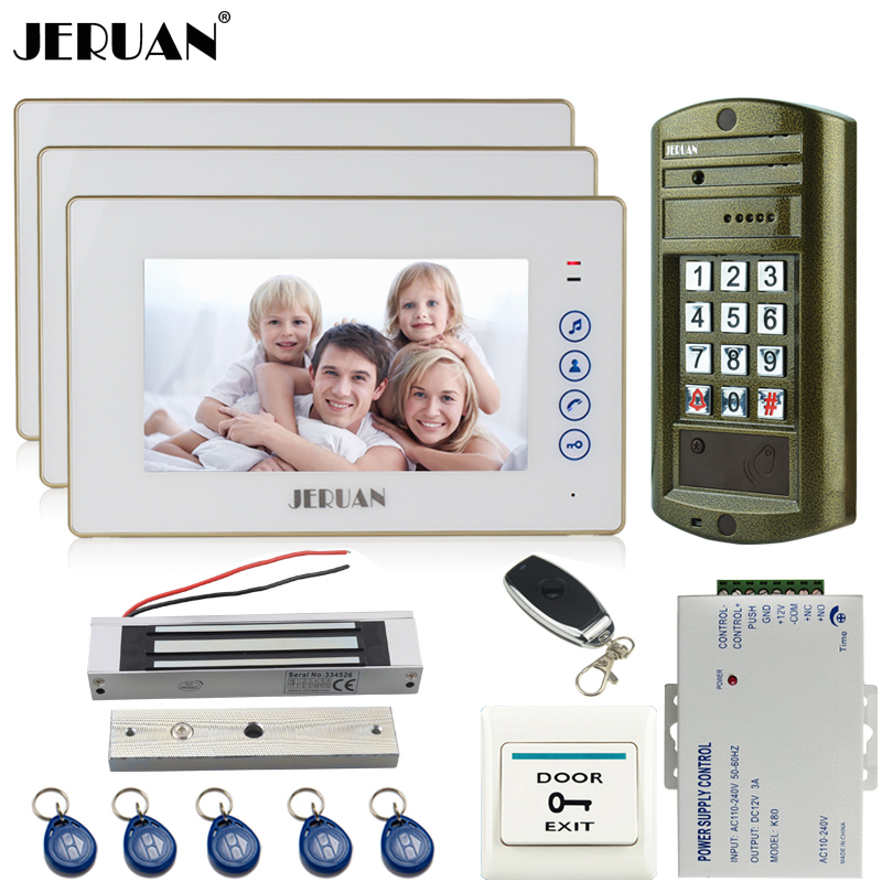 Home 7`` Video Doorbell Door Phone Intercom System kit 3 Touch key Monitor + Metal Waterproof Access Password HD Mini CameraHome 7`` Video Doorbell Door Phone Intercom System kit 3 Touch key Monitor + Metal Waterproof Access Password HD Mini Camera