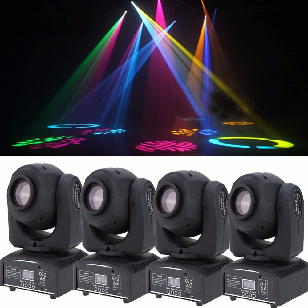 4pcs lot rgbw 10w led moving head spot light stage lighting dmx 512 dj disco ball party 8. Black Bedroom Furniture Sets. Home Design Ideas