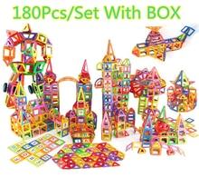 180PCS Mini Magnetic Designer Construction Enlighten Assembly Models & Building Toy Kids Educational DIY Plastic Technic Bricks