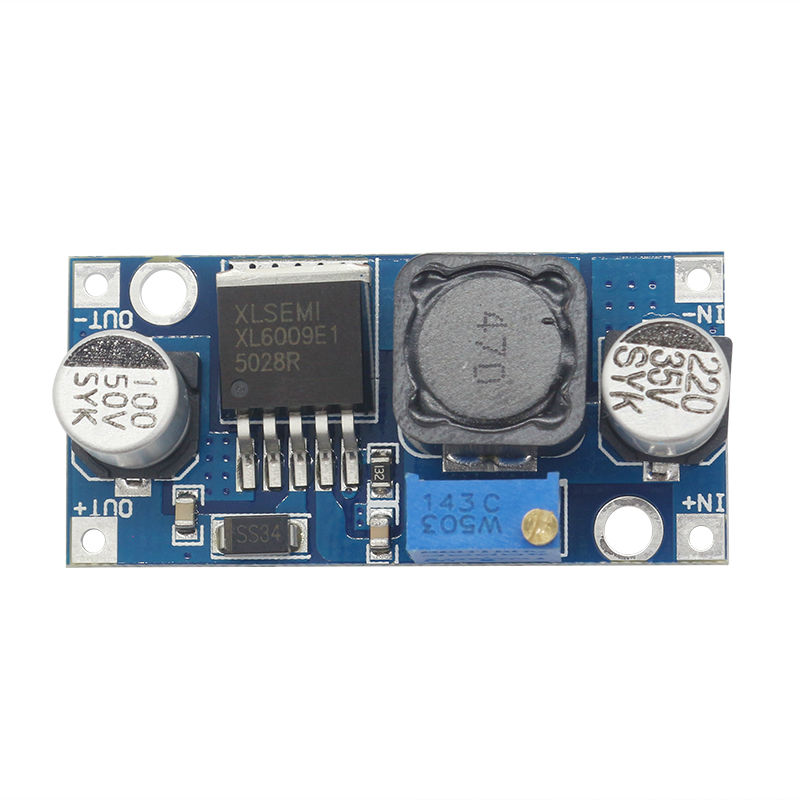 Glyduino XL6009 DC-DC Adjustable Step-up Boost Power Converter Board Module for Arduino