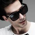 AFOFOO Vintage Gran Marco Cuadrado Gafas de Sol de Alta Calidad Marca Diseñador Hombres gafas de Sol de Moda de Gran Tamaño Gafas gafas de sol