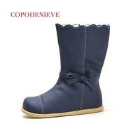 COPODENIEVE Winter Splash Waterproof Girls Boots Ski Cloth Warm Snow Boots Kids Boys Fleece Children Shoes