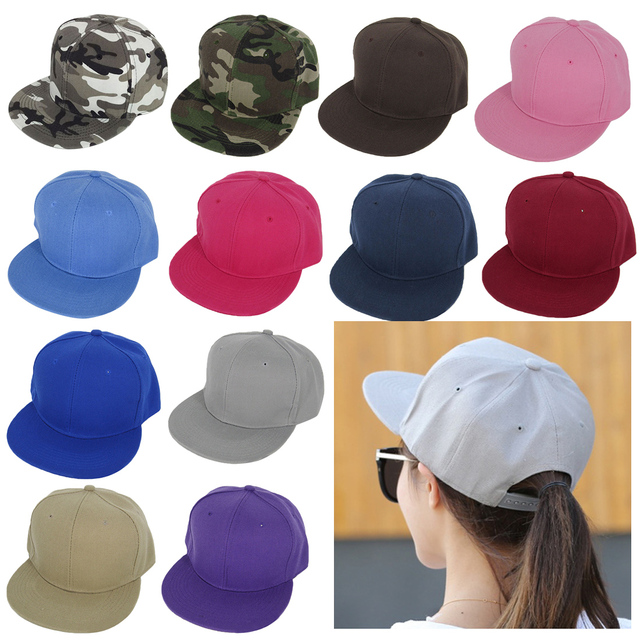 7a7dd221c US $3.25 22% OFF|Hot style fashion All Blank Plain Snapback Hats Hip Hop  Adjustable Bboy Baseball Cap sombreros For Unisex-in Men's Baseball Caps  from ...