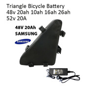 Free Shipping 48v Battery For Electric Bike Triangle Bicycle Battery 48v 20ah 12ah 16ah Suit For Electric Scooter Ebike MTB