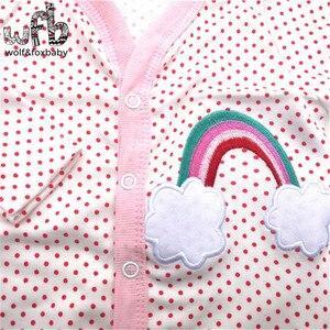 Image 5 - Retail 3 stks/partij 0 12months lange Mouwen Baby Baby cartoon footies body voor jongens meisjes jumpsuits pasgeboren kleding