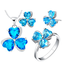 925 Silver Plated NEW Suits Custom Made Clover Suit Fashion Jewelry Exported End Clearance
