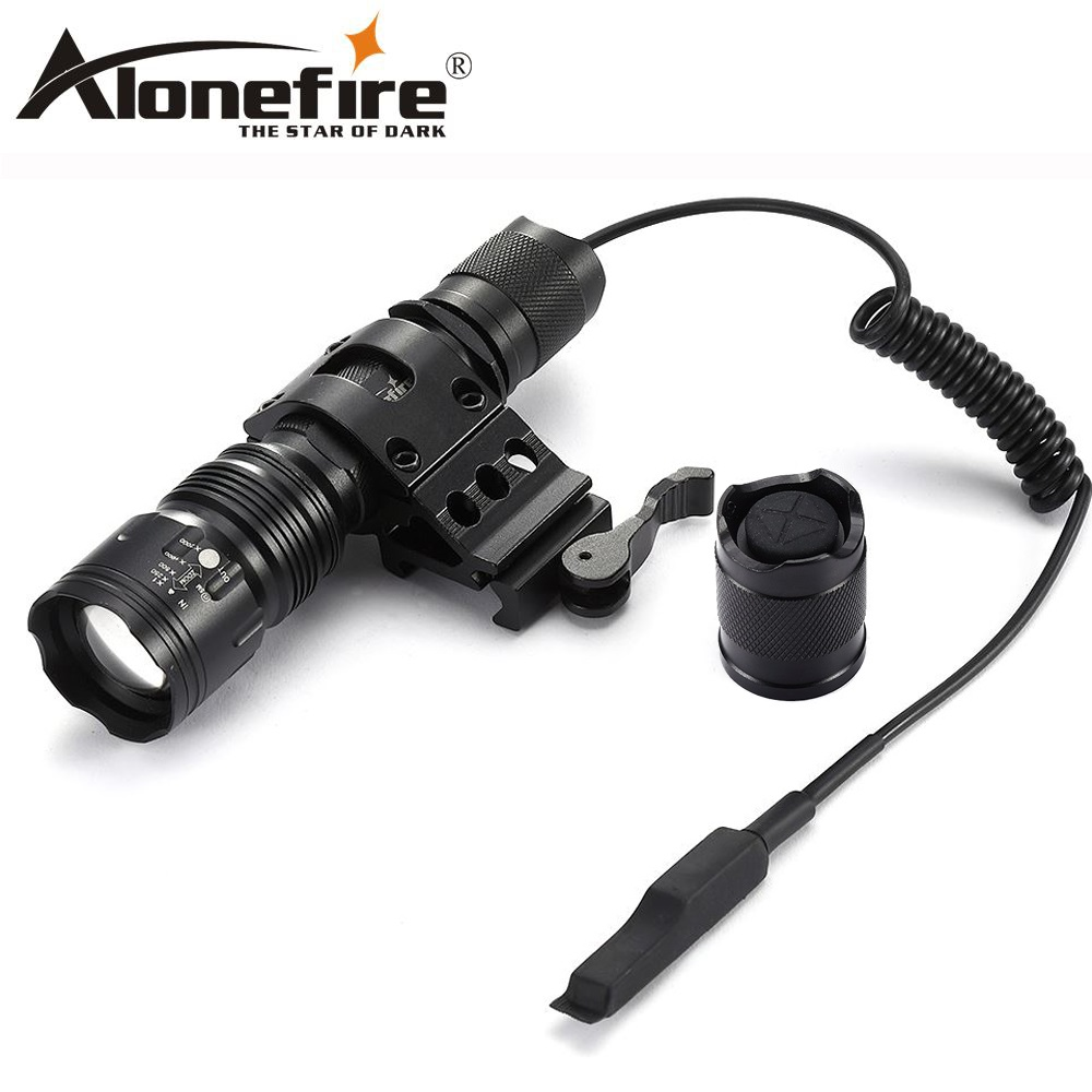 AloneFire TK104 LED Flashlight Tactical Lantern 18650 Flashlight Led Lamp Remote Switch Led Tactical Flashlight For Hunting