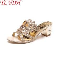 Designer Schuhe Frauen Luxus 2017 Neue Sommer Plattform Sandalen Sexy Kristall Latex Keile Superstar Pantoffel