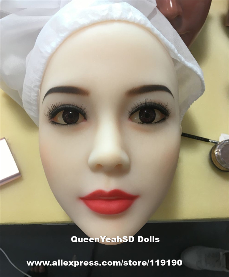 Top Quality Silicone Sex Doll Heads For Real Dolls Japanese lifelike Sexy Doll, Oral Sex Toy For Men top quality 75 85 110cm female sexy real leg lifelike silicone sex dolls skeleton male sex toy real doll for men masturbators