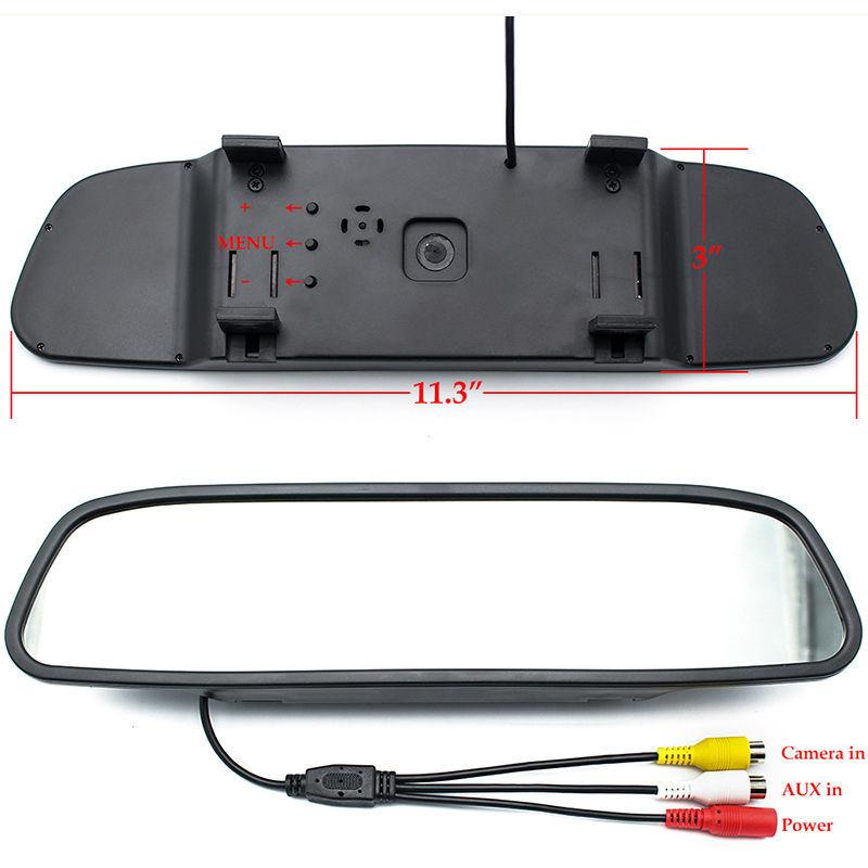 Assistenza Al Parcheggio auto 3IN1 Rear View Mirror Monitor + Backup Reverse Camera + Video Radar Detector Sensore di Allarme Acustico - 3