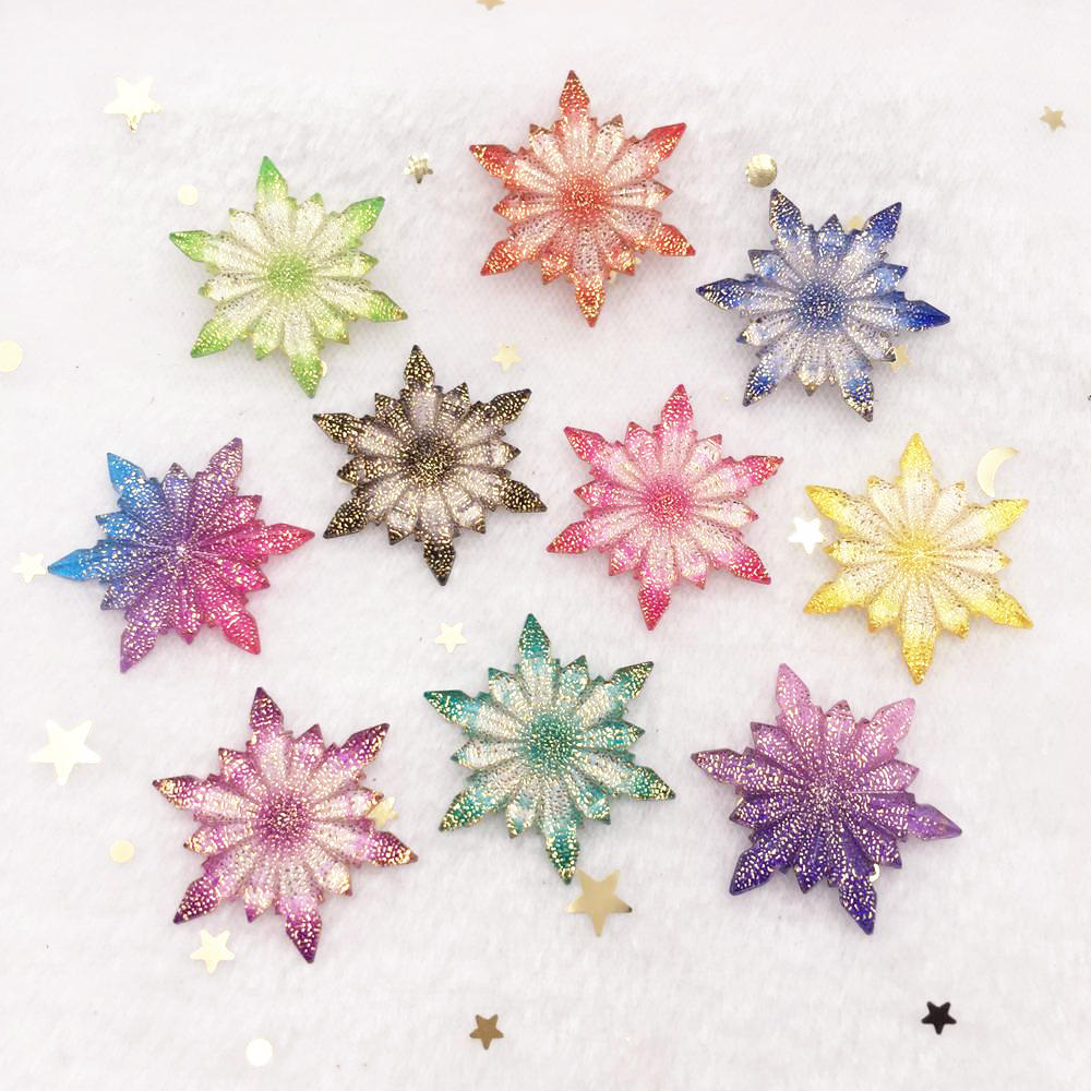 New 12pcs Bling Resin 32mm Colorful Ice Flower Flatback Rhinestone Ornaments DIY  Wedding Appliques Craft W74*2 Buttons    - AliExpress