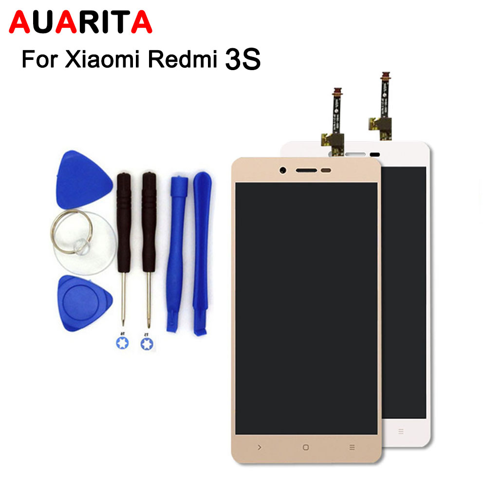 цена  100% New 5pcs/lot LCD For Xiaomi Redmi 3S LCD Display+Touch Screen Digitizer Assembly with tools free shipping  онлайн в 2017 году
