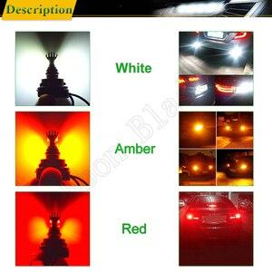 Image 5 - 2X1156 BA15S P21W 1157 BAY15D P21/5W BAU15S PY21W voiture lumière LED Canbus sans erreur Auto LED ampoule lampe blanc rouge ambre 12v 24v D