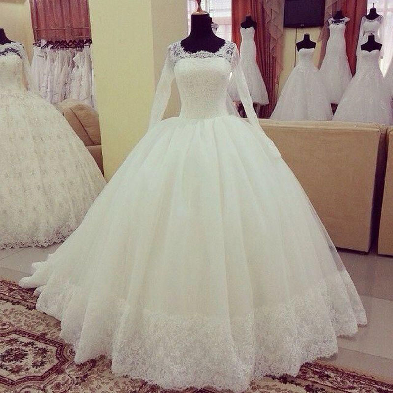 elegant lace wedding dress 2017 with lebanon ball gown