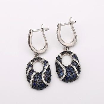 Gem's Ballet Natural Blue Sapphire Gemstone Drop Earrings 925 Sterling Silver Fine Jewelry For Women Vintage Earrings