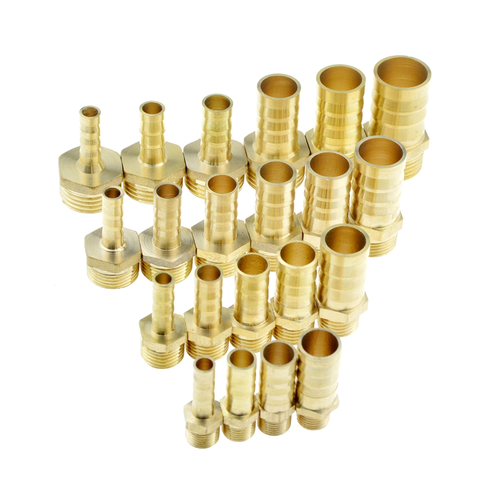 Brass Pipe Fitting 4mm 6mm 8mm 10mm 12mm 19mm Hose Barb Tail 1/8