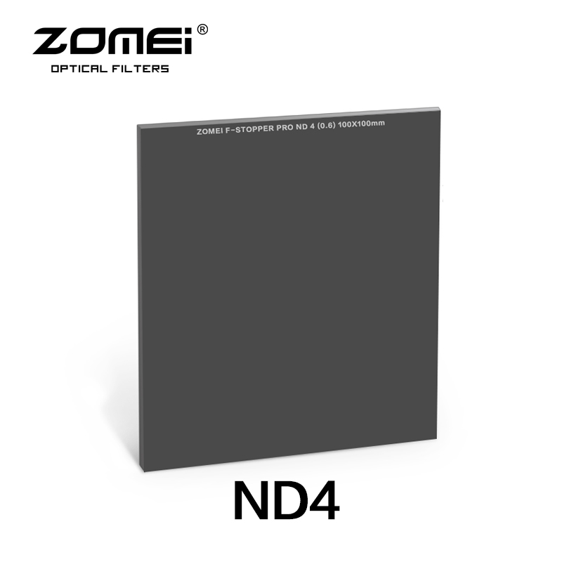 Zomei 100*100mm Square ND Optical Glass Neutral Density 2 stop/ND4 Filter haida 100mm nd1000 optical glass neutral density nd filter 100 cokin z compatible