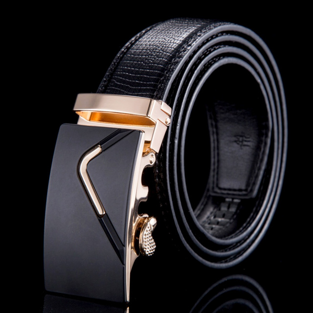 Genuine leather men belt for men fashion mens belts brand luxury automatic buckle casual WBT091