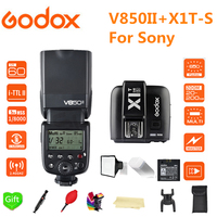 Godox V850II Flash GN60 2.4G Wirless X System Li ion Battery Speedlite Flash + X1T S Trigger for Sony a6000 a7 a6500 cameras