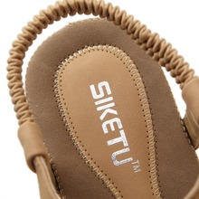SIKETU Summer new women's flat sandals shoes woman Bohemia beach sandals ethnic retro student flip flop sandals size 35-42